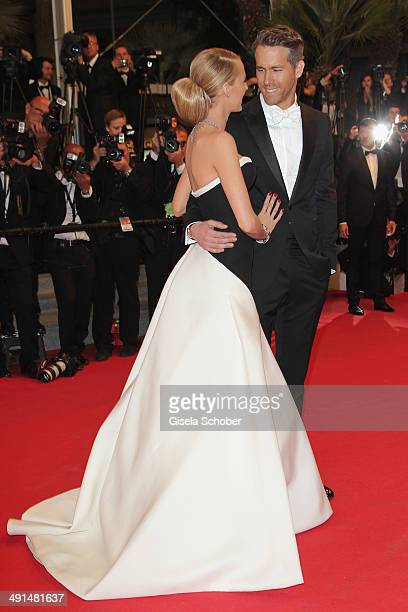 """Blake Lively and Ryan Reynolds attend the """"Captives"""" premiere during the 67th Annual Cannes Film Festival on May 16, 2014 in Cannes, France."""