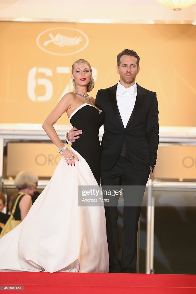 Blake Lively and Ryan Reynolds attend the 'Captives' premiere during the 67th Annual Cannes Film Festival on May 16, 2014 in Cannes, France.