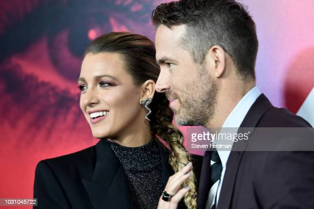 Blake Lively and Ryan Reynolds attend the New York premier of A Simple Favor at Museum of Modern Art on September 10 2018 in New York City