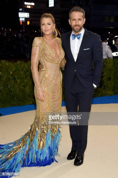 Blake Lively and Ryan Reynolds attend the Rei Kawakubo/Comme des Garcons Art Of The InBetween Costume Institute Gala at Metropolitan Museum of Art on...