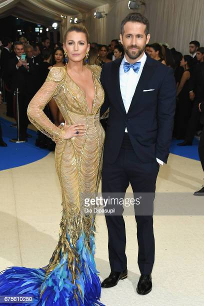 Blake Lively and Ryan Reynolds attend the 'Rei Kawakubo/Comme des Garcons Art Of The InBetween' Costume Institute Gala at Metropolitan Museum of Art...