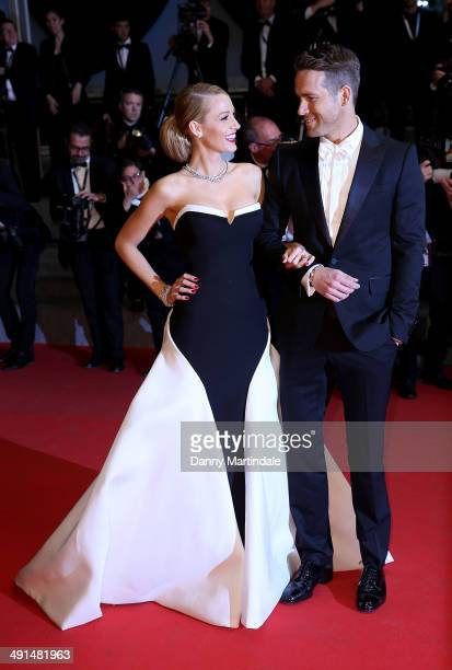 Blake Lively and Ryan Reynolds attends 'Captives' Premiere at the 67th Annual Cannes Film Festival on May 16 2014 in Cannes France