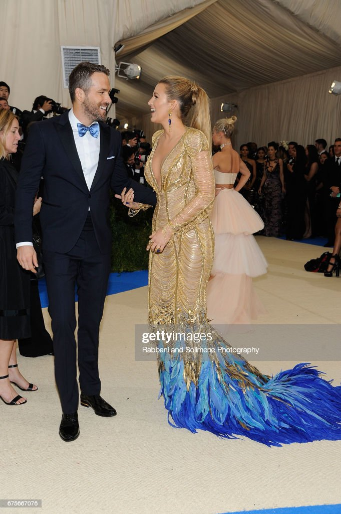 Blake Lively and Ryan Reynolds attends 'Rei Kawakubo/Comme des Garcons: Art Of The In-Between' Costume Institute Gala - Arrivals at Metropolitan Museum of Art on May 1, 2017 in New York City.