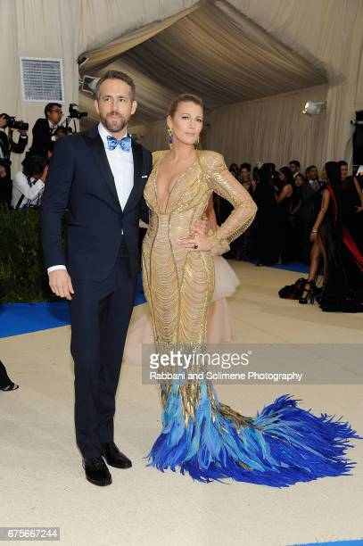 Blake Lively and Ryan Reynolds attends 'Rei Kawakubo/Comme des Garcons Art Of The InBetween' Costume Institute Gala Arrivals at Metropolitan Museum...