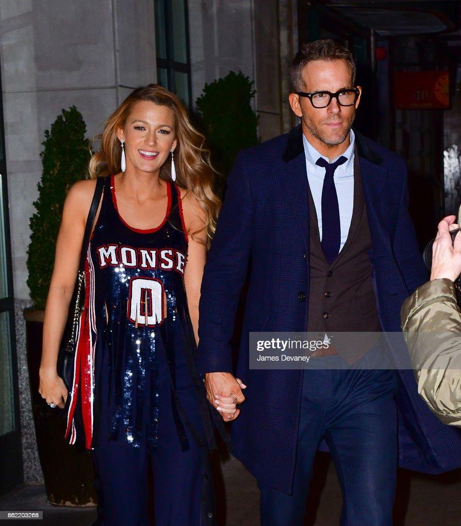 Celebrity Sightings in New York City - October 16, 2017