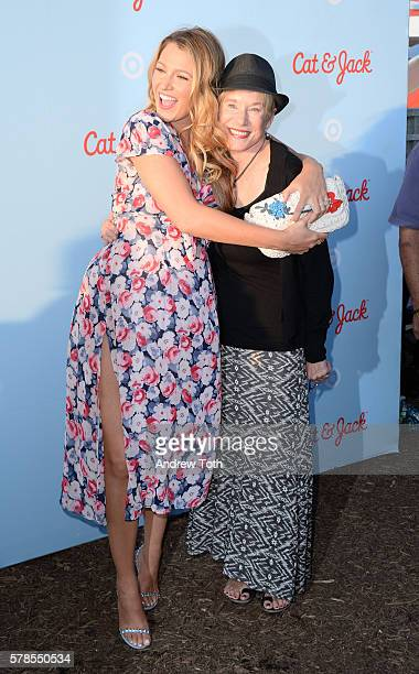 Blake Lively and Tammy Reynolds attend the Target launch of Cat and Jack at Brooklyn Bridge Park on July 21, 2016 in New York City.