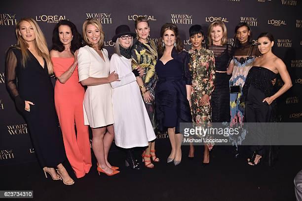 Blake Lively, Andie MacDowell, Brooke Baldwin, Diane Keaton, Aimee Mullins, Karen T. Fondu, Tamron Hall, Arianna Huffington, Liya Kebede and Eva...