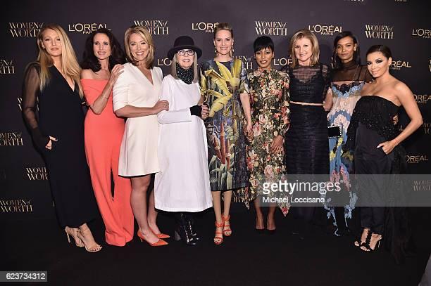 Blake Lively Andie MacDowell Brooke Baldwin Diane Keaton Aimee Mullins Karen T Fondu Tamron Hall Arianna Huffington Liya Kebede and Eva Longoria...