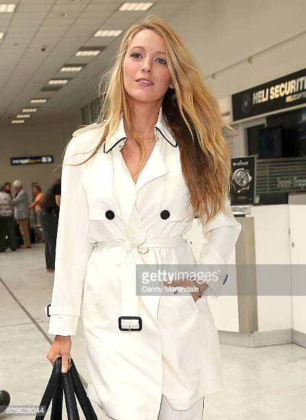 Blake Lively arrives at Nice airport during the annual 69th Cannes Film Festival at Nice Airport on May 9 2016 in Nice France
