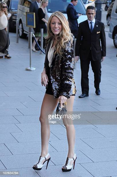 Blake Lively arrives at Ritz Hotel on July 5 2010 in Paris France