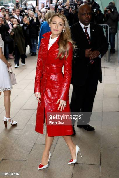 Blake Lively arrives at the Michael Kors show during the new york fashion week 2018 on February 14 2018 in New York City