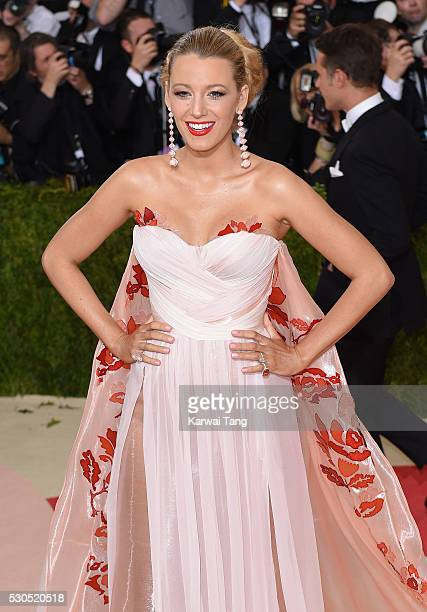Blake Lively arrives for the Manus x Machina Fashion In An Age Of Technology Costume Institute Gala at Metropolitan Museum of Art on May 2 2016 in...