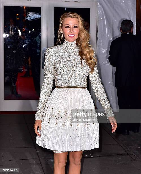 Blake Lively arrives to 2016 amfAR New York Gala at Cipriani Wall Street on February 10 2016 in New York City