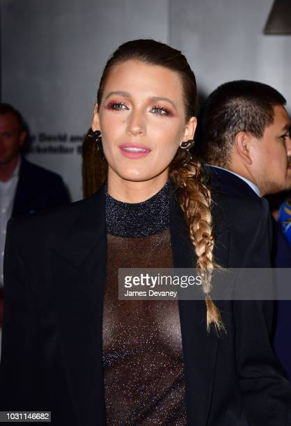 Blake Lively arrives to 'A Simple Favor' premiere at Museum of Modern Art on September 10 2018 in New York City