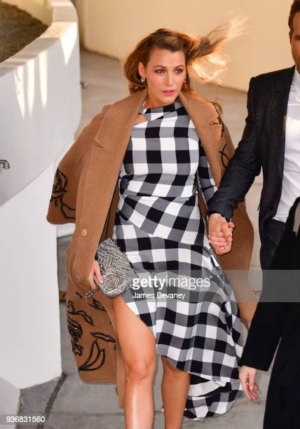 Blake Lively arrives to the 'Final Portrait' New York screening at Guggenheim Museum on March 22, 2018 in New York City.