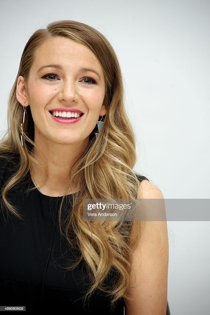 Blake Lively at the 'Age Of Adaline' Press Conference at the Four Seasons Hotel on April 12, 2015 in Beverly Hills, California.