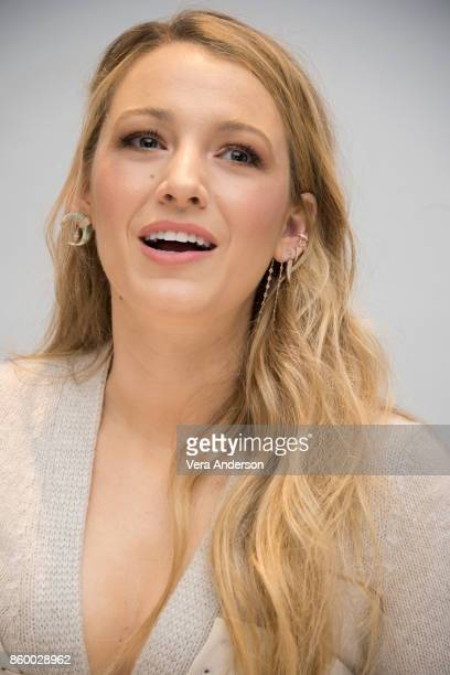Blake Lively at the 'All I See Is You' Press Conference at the Four Seasons Hotel on October 10 2017 in Beverly Hills California
