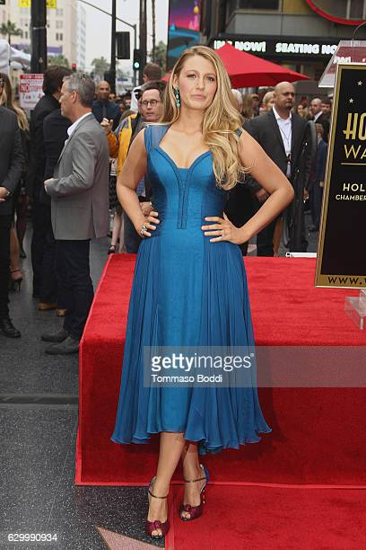 Blake Lively attends a ceremony honoring actor Ryan Reynolds with Star on the Hollywood Walk Of Fame on December 15 2016 in Hollywood California