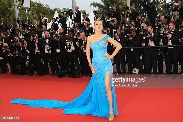 Blake Lively attends a screening of 'The BFG' at the annual 69th Cannes Film Festival at Palais des Festivals on May 14 2016 in Cannes France