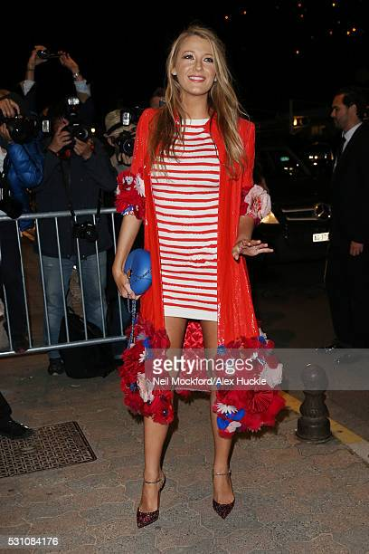 Blake Lively attends a Vanity Fair dinner at the Tetou restaurant during the 69th Annual Cannes Film Festival on May 12 2016 in Cannes France