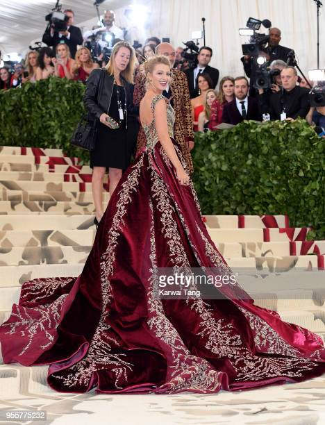 Blake Lively attends Heavenly Bodies Fashion The Catholic Imagination Costume Institute Gala at the Metropolitan Museum of Art on May 7 2018 in New...
