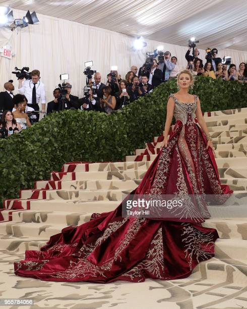 Blake Lively attends Heavenly Bodies Fashion the Catholic Imagination the 2018 Costume Institute Benefit at Metropolitan Museum of Art on May 7 2018...