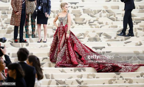 Blake Lively attends Heavenly Bodies: Fashion & The Catholic Imagination Costume Institute Gala at The Metropolitan Museum of Art on May 7, 2018 in...