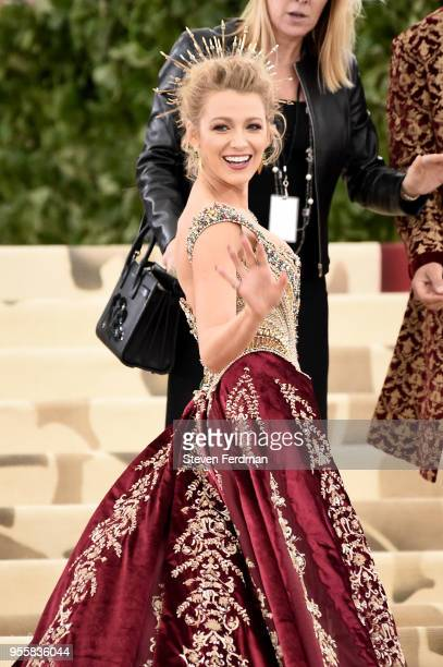 Blake Lively attends Heavenly Bodies Fashion The Catholic Imagination Costume Institute Gala at Metropolitan Museum of Art on May 7 2018 in New York...