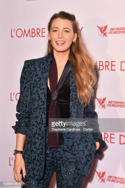 "Blake Lively attends ""L'Ombre D'Emilie - A Simple Favor"" Paris Premiere at Cinema UGC Normandie on September 18, 2018 in Paris, France."