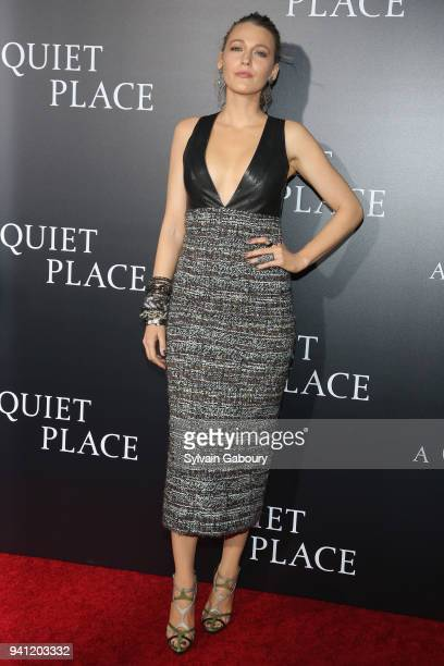 Blake Lively attends New York Premiere of 'A Quiet Place' on April 2 2018 in New York City