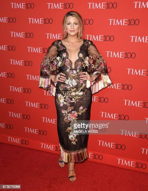 Blake Lively attends the 2017 Time 100 Gala at Jazz at Lincoln Center on April 25 2017 in New York City / AFP PHOTO / ANGELA WEISS