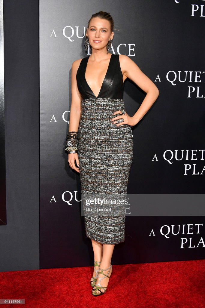 Blake Lively attends the 'A Quiet Place' New York Premiere at AMC Lincoln Square Theater on April 2, 2018 in New York City.