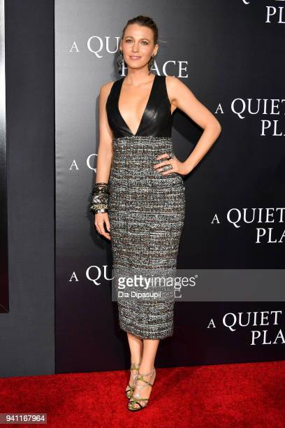 """Blake Lively attends the """"A Quiet Place"""" New York Premiere at AMC Lincoln Square Theater on April 2, 2018 in New York City."""