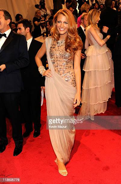 Blake Lively attends the 'Alexander McQueen Savage Beauty' Costume Institute Gala at The Metropolitan Museum of Art on May 2 2011 in New York City