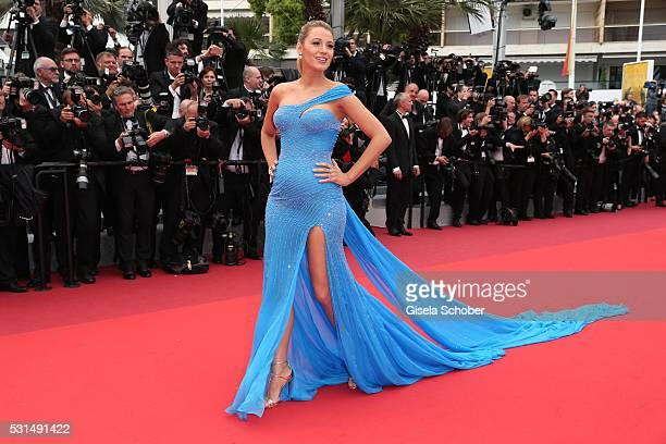 Blake Lively attends The BFG premiere during the 69th annual Cannes Film Festival at the Palais des Festivals on May 14 2016 in Cannes France