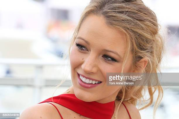 Blake Lively attends the 'Cafe Society' photocall which will open the 69th annual Cannes Film Festival on May 11 2016 in Cannes France