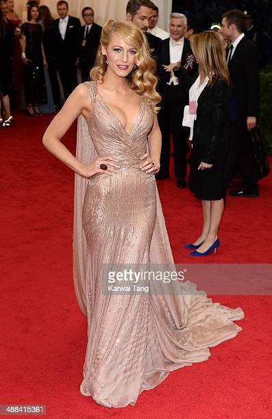 Blake Lively attends the Charles James Beyond Fashion Costume Institute Gala held at the Metropolitan Museum of Art on May 5 2014 in New York City