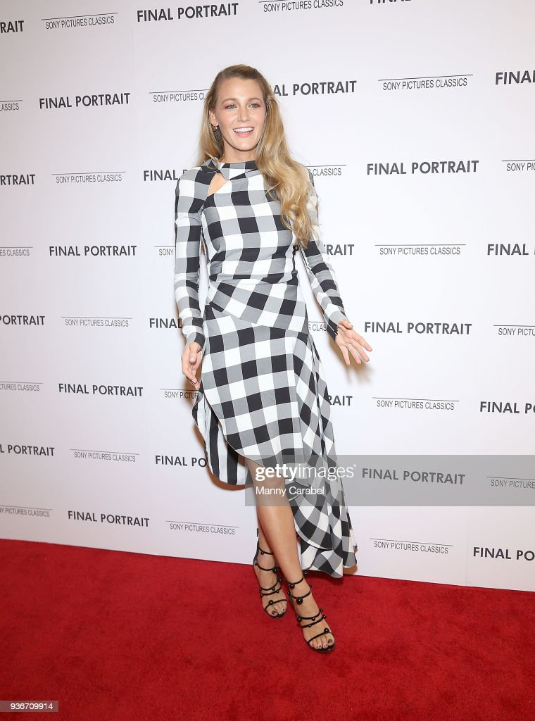 Blake Lively attends the 'Final Portrait' New York Screening at Guggenheim Museum on March 22, 2018 in New York City.