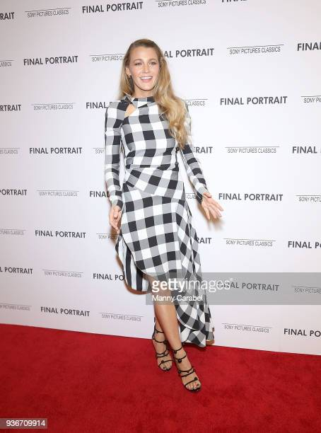 Blake Lively attends the 'Final Portrait' New York Screening at Guggenheim Museum on March 22 2018 in New York City