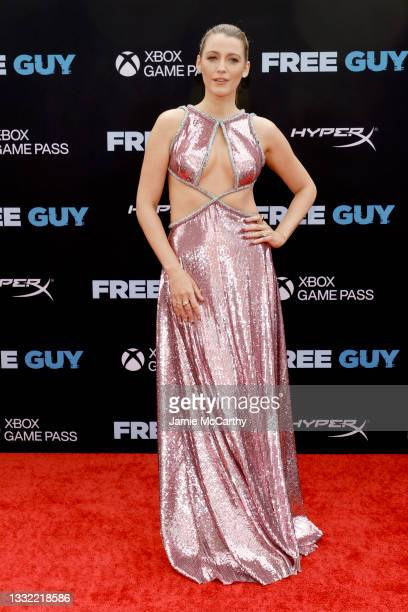 """Blake Lively attends the """"Free Guy"""" New York Premiere at AMC Lincoln Square Theater on August 03, 2021 in New York City."""