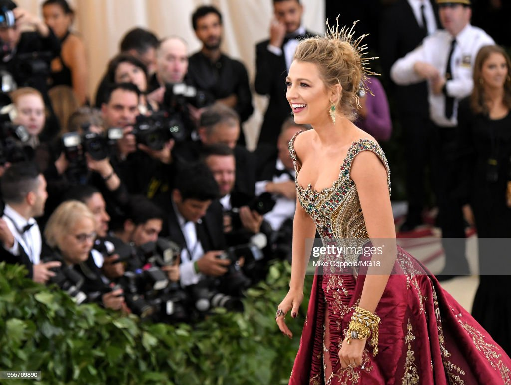 Blake Lively attends the Heavenly Bodies: Fashion & The Catholic Imagination Costume Institute Gala at The Metropolitan Museum of Art on May 7, 2018 in New York City.