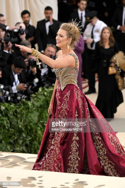 Blake Lively attends the Heavenly Bodies: Fashion & The Catholic Imagination Costume Institute Gala at The Metropolitan Museum of Art on May 7, 2018...