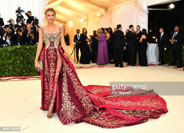 Blake Lively attends the Heavenly Bodies Fashion The Catholic Imagination Costume Institute Gala at The Metropolitan Museum of Art on May 7 2018 in...