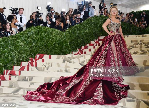 Blake Lively attends the Heavenly Bodies Fashion The Catholic Imagination Costume Institute Gala at Metropolitan Museum of Art on May 7 2018 in New...