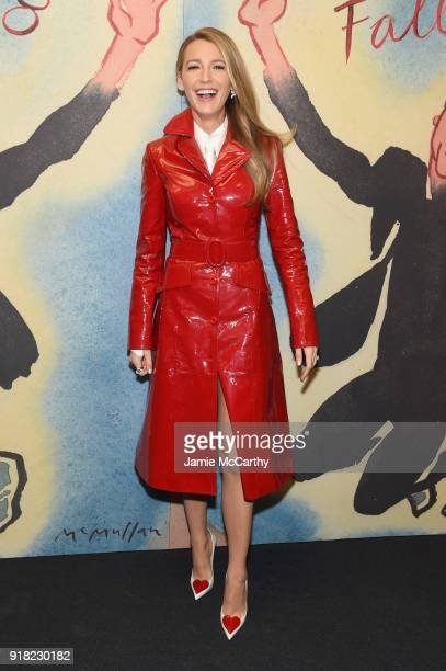 Blake Lively attends the Michael Kors Collection Fall 2018 Runway Show at Vivian Beaumont Theatre at Lincoln Center on February 14 2018 in New York...