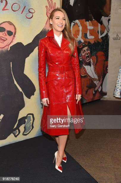 Blake Lively attends the Michael Kors fashion show during New York Fashion Week at Vivian Beaumont Theatre on February 14 2018 in New York City