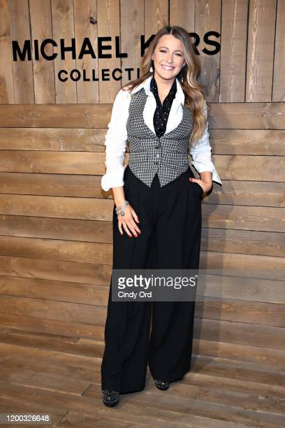 Blake Lively attends the Michael Kors FW20 Runway Show during New York Fashion Week on February 12 2020 in New York City