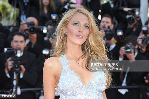 Blake Lively attends the 'Mr Turner' premiere during the 67th Cannes Film Festival