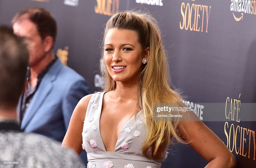 Blake Lively attends the New York premiere of 'Cafe Society' hosted by Amazon & Lionsgate with The Cinema Society at Paris Theatre on July 13, 2016 in New York City.