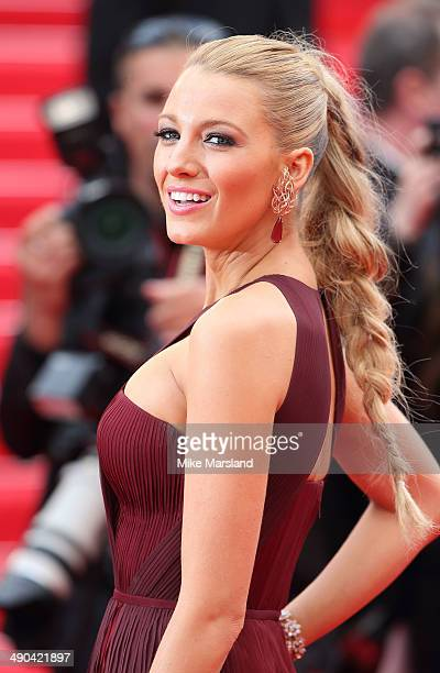 Blake Lively attends the opening ceremony and Grace of Monaco premiere at the 67th Annual Cannes Film Festival on May 14 2014 in Cannes France